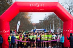 Depart 13Km du Rhone Marathon du Beaujolais