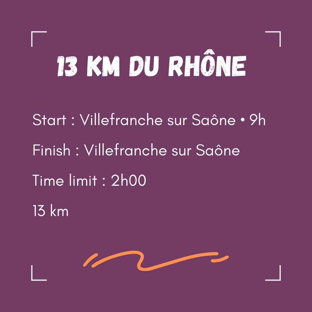 Départ Fleurie 9h00 Arrivée Villefranche sur Saône Temps limite 7h00 42.195 km (1)