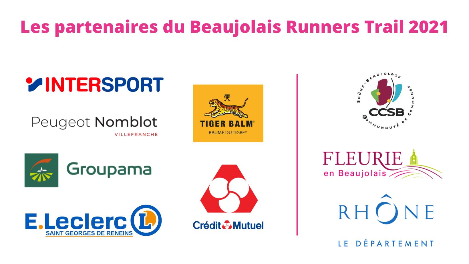 Les partenaires du Beaujolais Runners Trail 2021 (2)